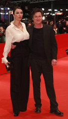 Actors Strauss and Bohm arrive at red carpet for screening of movie 'Mein bester Feind' at 61st Berlinale Film Festival in Berlin