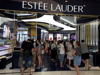 Mainland shoppers crowd a luxury store inside a mall in Sanya on Hainan Island