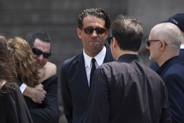 Actor Bobby Cannavale is photographed outside the Cathedral Church of Saint John the Divine after taking part in the funeral service for actor James Gandolfini in New York