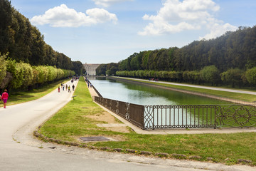 royal palace garden in the city of caserta