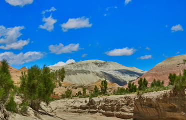 Takyr in Aktau mountains in Altyn-Emel National Park, Kazakhstan