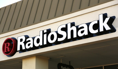 The sign outside the RadioShack store is seen in Westminster, Colorado