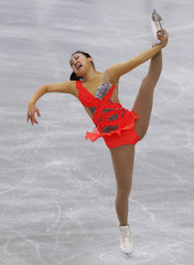 Mao Asada of Japan performs during the women's short programme at the ISU Grand Prix of Figure Skating's NHK Trophy event in Sendai