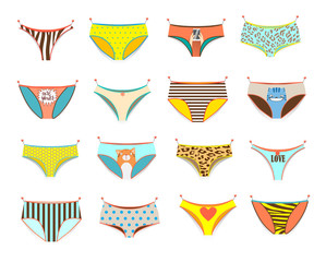 Funny female panties of different kinds.