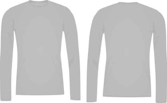 Long sleeve t shirt template
