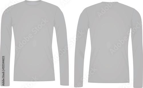 Long sleeve t shirt template\