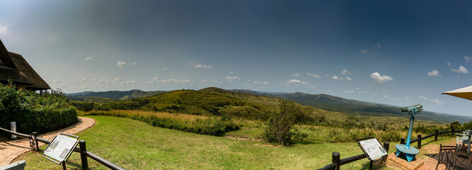 Panorama landscape at the Hluhluwe Nationalpark