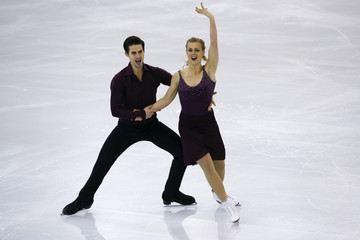 Hubbell and Donohue of the U.S perform during the ice dance short dance program at the ISU Grand Prix of Figure Skating final in Barcelona