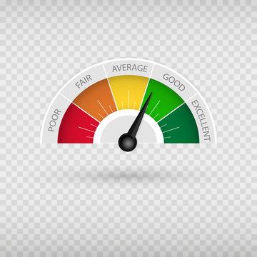Modern Speedometer Interface clock speedo