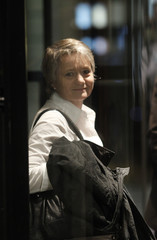 National Councillor Fehr stands in an elevator before a hearing with the faction of the SPS in Bern
