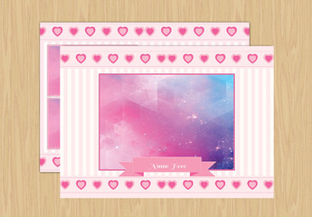 Birth Announement Layout with Photo Placeholders 5
