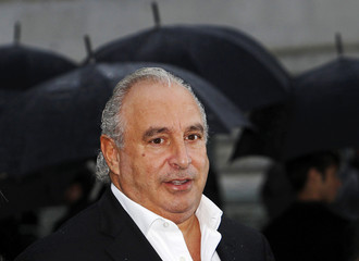 File photo of businessman Philip Green arriving for the Burberry 2010 Autumn/Winter collection during London Fashion Week