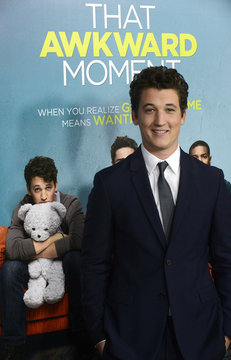 """Miles Teller attends premiere of the film """"That Awkward Moment"""" in Los Angeles"""