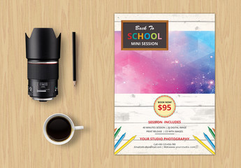 Photography Studio Back-to-School Special Flyer