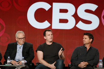 """Showrunners Glasberg of """"NCIS"""" and Nolan and Plageman of """"Person of Interest"""" talk about CBS shows during the TCA Winter 2014 presentations in Pasadena"""