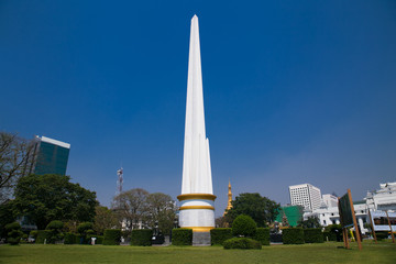 The independence monument in Yangon, Myanmar.