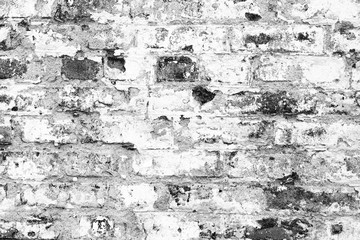 Fotobehang Oude vuile getextureerde muur Brick texture with scratches and cracks