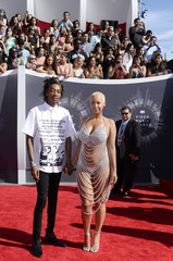 Wiz Khalifa and Amber Rose arrive at the 2014 MTV Music Video Awards in Inglewood