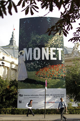Outside view of the Grand Palais Museum in Paris before Claude Monet exhibition