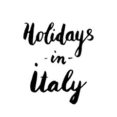 Holidays in Italy lettering