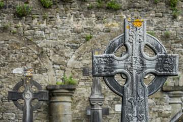 Celtic cross on a tomb