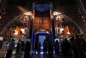 Mockup of No.3 reactor of Chubu Electric Power's Hamaoka Nuclear Power Station is displayed at nuclear museum in Omaezaki