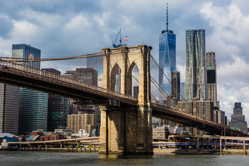 Tuinposter Brooklyn Bridge Brooklyn Bridge and Manhattan skyline