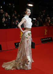 Actress Huang arrives on the red carpet for the awards ceremony of the 64th Berlinale International Film Festival in Berlin