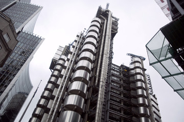A general view shows the Lloyd's building in London