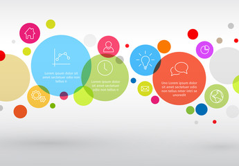 Colorful Horizontal Circles Infographic