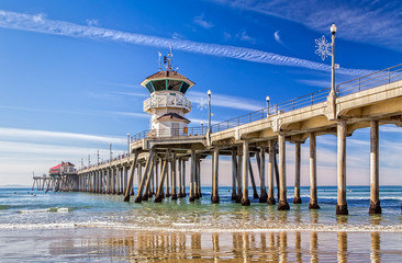 The Huntington Beach Pier Wall mural