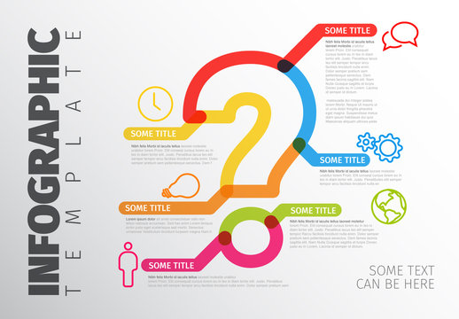 Colorful Question Mark Infographic Layout