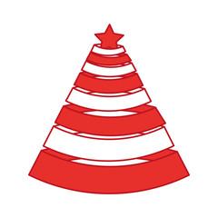 christmas tree decorative icon vector illustration design