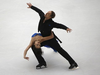 Chock and Bates at the ice dance during China ISU Grand Prix of Figure Skating, in Beijing