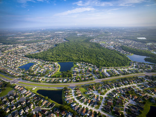 Aerial view of Kissimmee Florida Wall mural