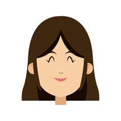 cartoon face of saint virgin mary vector illustration
