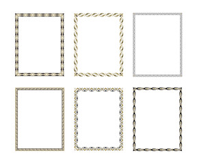 Set luxury decorative frame. vector illustration