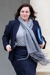 French housing minister Emmanuelle Cosse leaves following the weekly cabinet meeting at the Elysee Palace in Paris