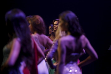 """Angela Ponce, 24, competes in the """"Miss World Spain"""" pageant in Estepona"""