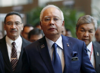 Malaysia's Prime Minister Najib Razak arrives at the opening of the International Conference on Deradicalisation and Countering Violent Extremism in Kuala Lumpur, Malaysia