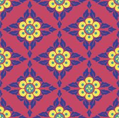 Geometric Flowers Pattern
