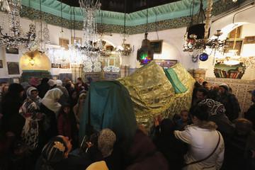 Algerian women pray in Mausoleum of Sidi Abderrahman, during Eid-e-Milad-ul-Nabi celebrations, in old city of Casbah in Algiers
