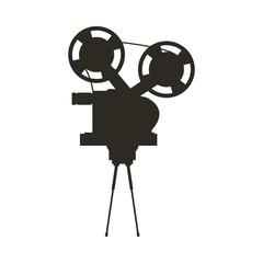 short film video camera studio, vector illustration