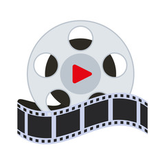 short filmstrips, cinematography production studio, vector illustration