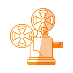 silhouette short film video camera studio, vector illustration