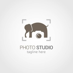 Photo Studio Logo Design Vector