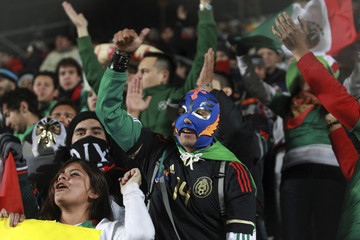 Mexico fans await the start of their team's match against Chile in the Copa America in San Juan