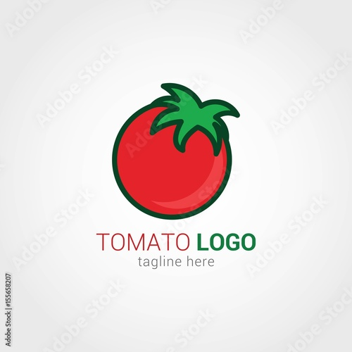 tomato logo design template stock image and royalty free vector
