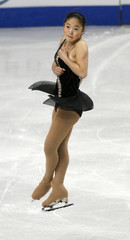Caroline Zhang of the U.S. performs during the Skate America figure skating competition in Portland
