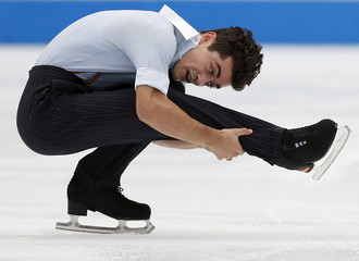 Spain's Fernandez of team Europe competes during Japan Open Figure Skating Team Competition in Saitama